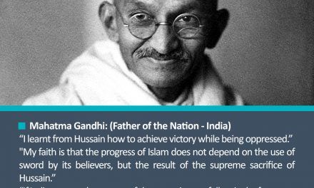 Mahatma Gandhi's Opinions About Imam Hussain(a.s)